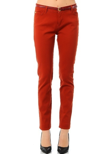 Asymmetry Slim Fit Pantolon Kahve